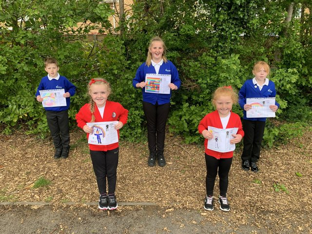 From left: Max Woodfield, Isabella Valente-Mitchell, Maddie Lethbridge, Evie Chaisty, and Evie Jalban.