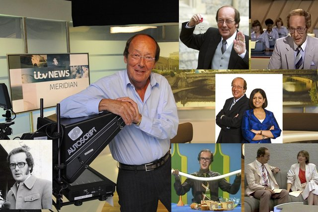 EVER-PRESENT:  Fred Dinenage, author, presenter and Meridian TV news anchor. Main image: Malcolm Wells (141209-0357)
