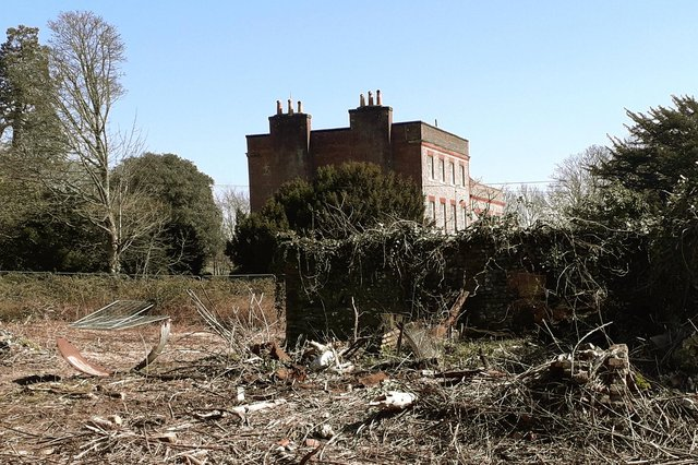 The remains of former farm buildings alongside Catherington House. Picture: Mike Mcbride.