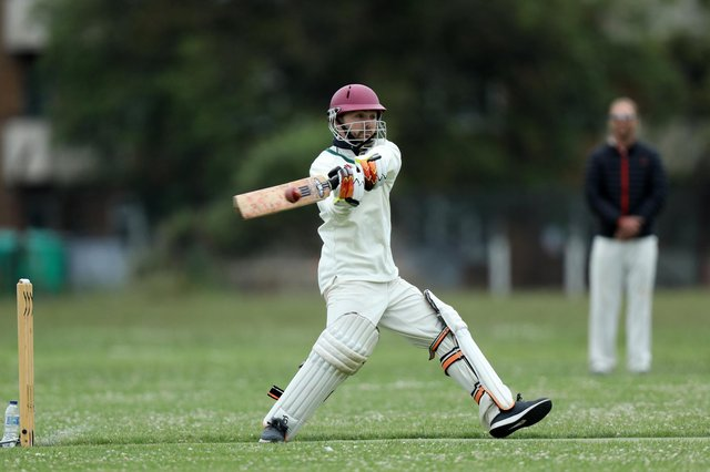 Dan Croft batting for Clanfield against Portsmouth Community. Picture: Chris Moorhouse