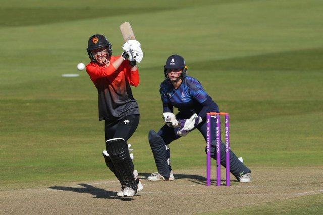 Southern Vipers' Georgia Adams hit 77 in the win against Western Storm in Taunton. Picture: David Davies/PA Wire.